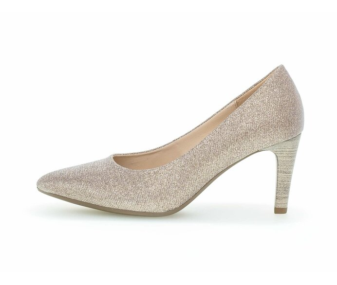 Eleganter Pumps Textil rosa p588130 #0
