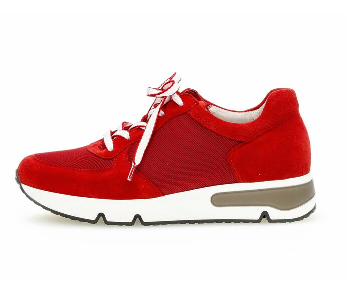 Sneaker low Materialmix Leder/Lederimitat rot p587932 #0