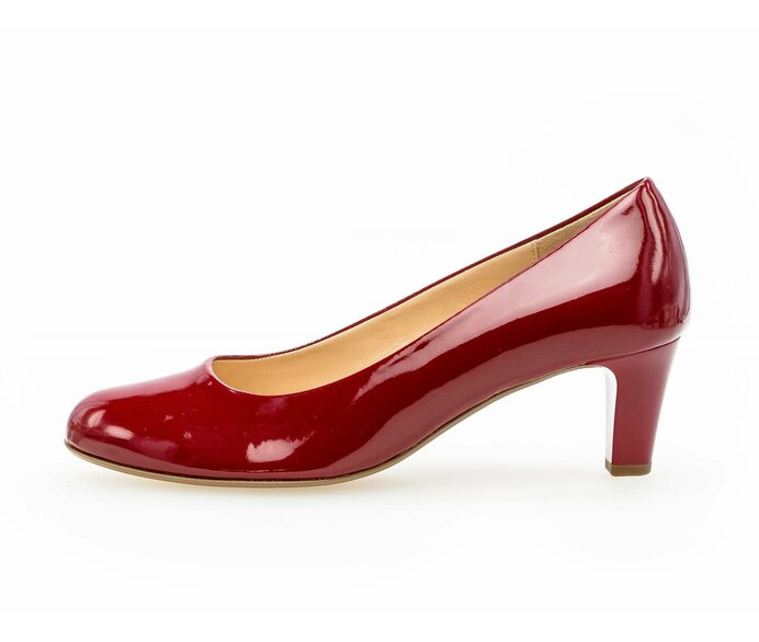 Eleganter Pumps Lederimitat rot p336759 #0