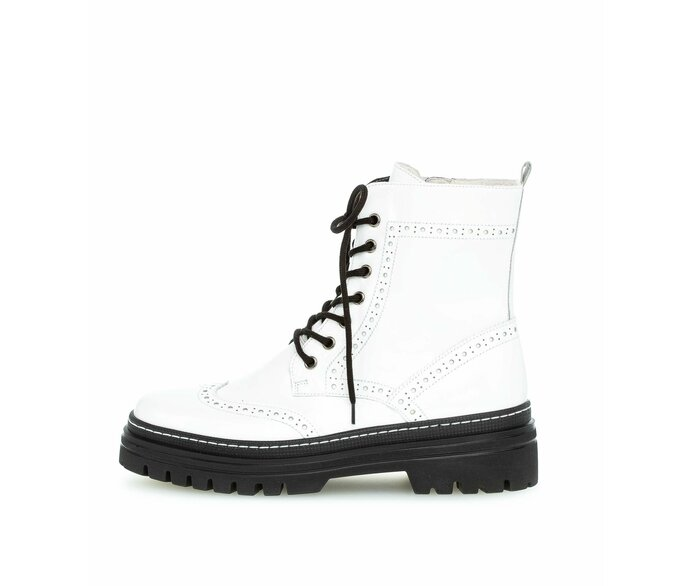 Lace-up ankle boot Patent leather white p3472430 #0