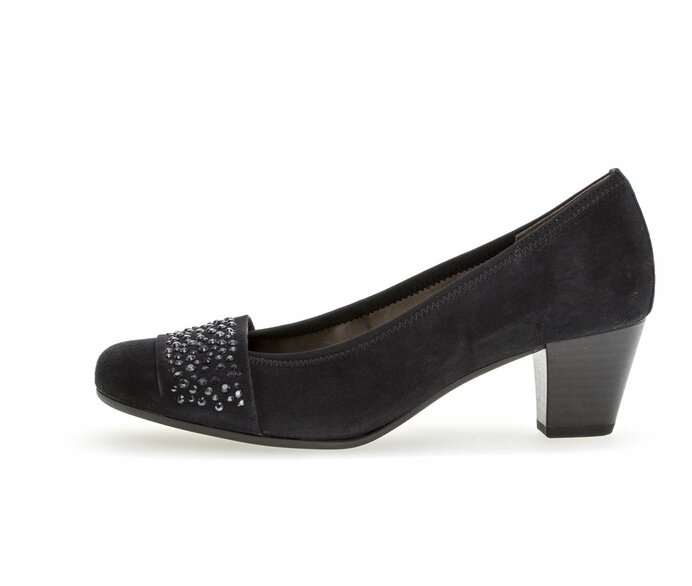 Eleganter Pumps Rauleder blau p339168 #0