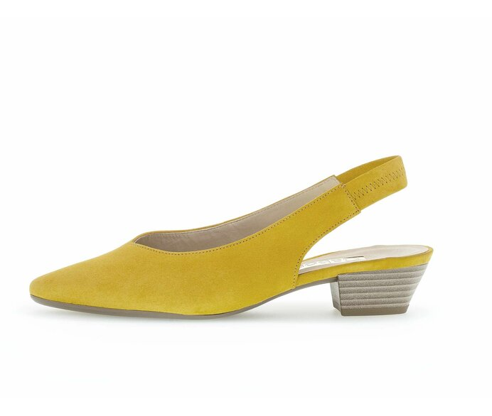 Sling pump Full-grain leather yellow p317781 #0
