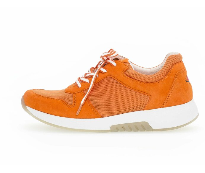 Sneaker low Materialmix Leder/Lederimitat orange p1352899 #0