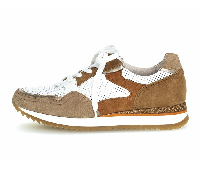 Sneaker low Materialmix Leder beige p4768386 #0
