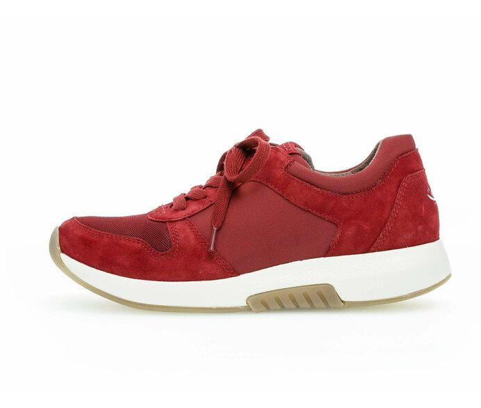 Sneaker low Materialmix Leder/Lederimitat rot p338933 #0
