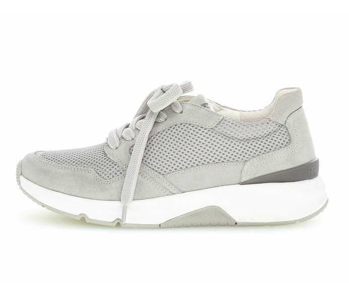 Sneaker low Materialmix Leder/Lederimitat grau p4912926 #0